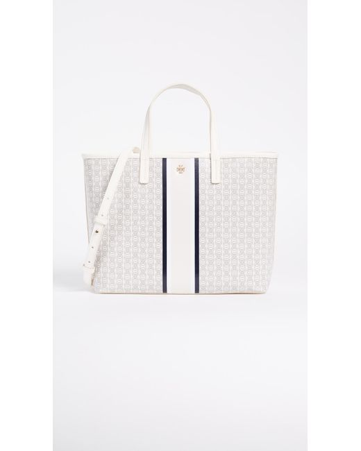 Tory Burch | White Gemini Link Small Tote | Lyst