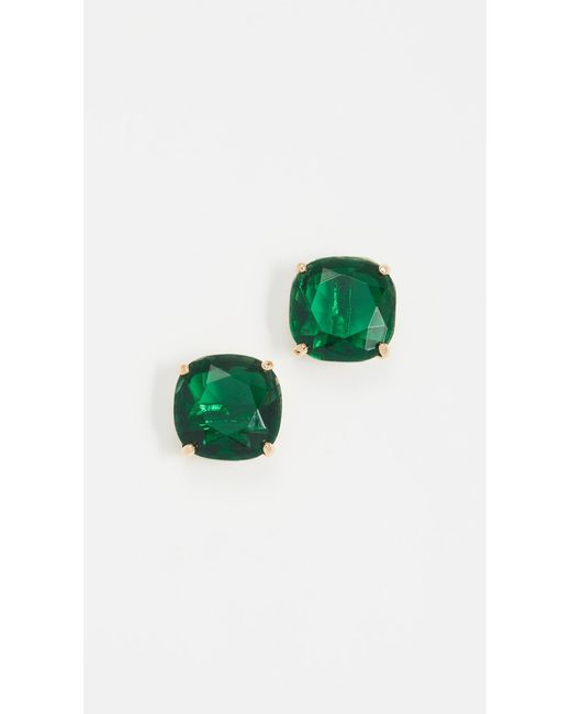 Kate Spade | Green Small Square Stud Earrings | Lyst