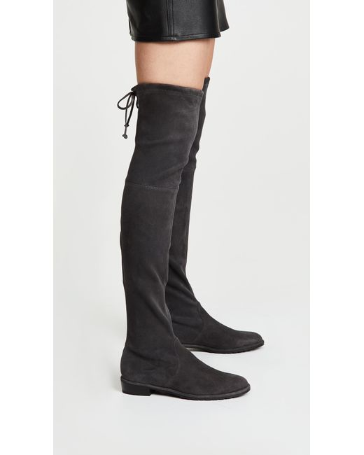 5febba330cc2 ... Stuart Weitzman - Black Lowland Over The Knee Boots - Lyst ...