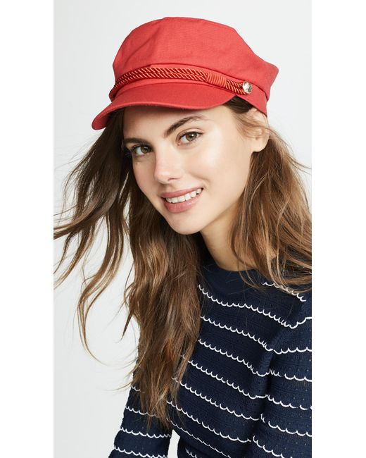 Hat Attack - Red Emmy Newsboy Cap - Lyst