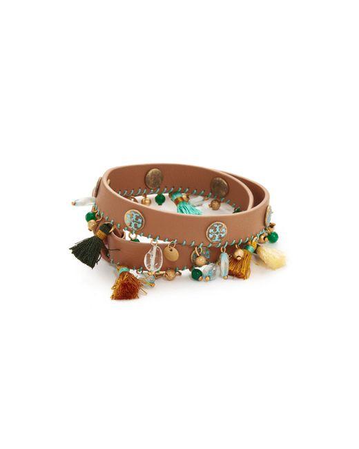 Tory Burch | Multicolor Tassel Double Wrap Bracelet | Lyst
