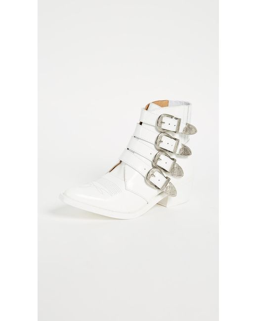 Toga Pulla | White Buckled Booties | Lyst