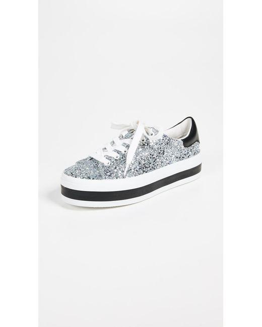 Alice + Olivia - Metallic Ezra Platform Sneakers - Lyst