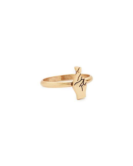 Madewell   Metallic Fingers Crossed Ring   Lyst