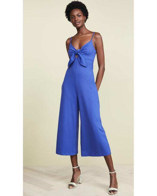 18c348fedd99 Susana Monaco - Blue Bow Detail Jumpsuit - Lyst ...