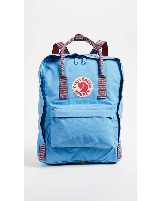 4b35580e5 Fjallraven Kanken Backpack in Blue - Save 5% - Lyst