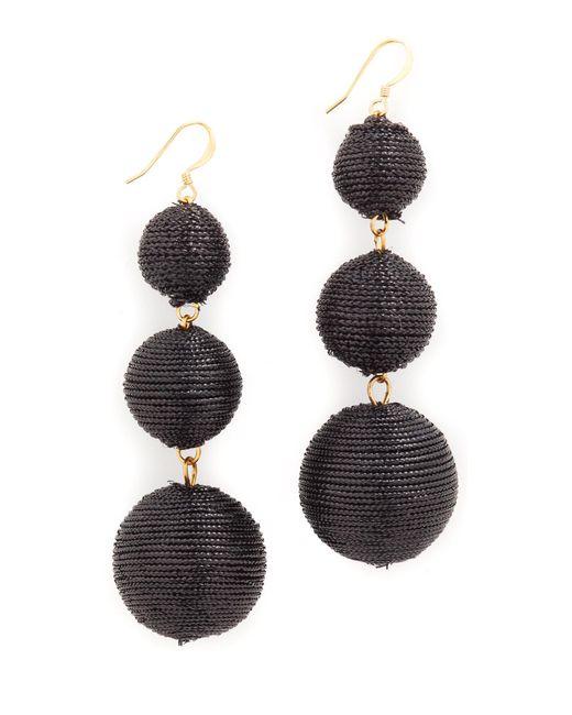 Kenneth Jay Lane | Black Triple Tier Drop Earrings | Lyst