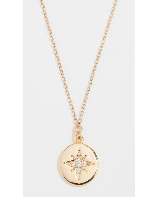 Shashi - Metallic Starburst Coin Pendant Necklace - Lyst