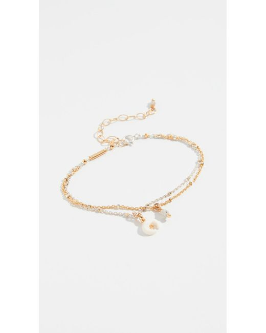 Chan Luu - Multicolor Mix Layered Horn Charm Bracelet - Lyst
