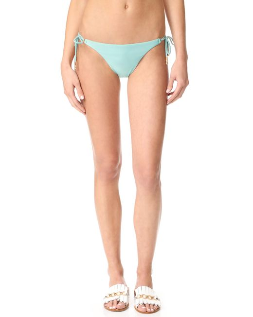 ViX | Multicolor Solid Long Tie Bikini Bottoms | Lyst