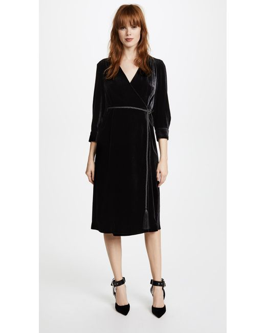 Edition10   Black Wrapped Dress   Lyst