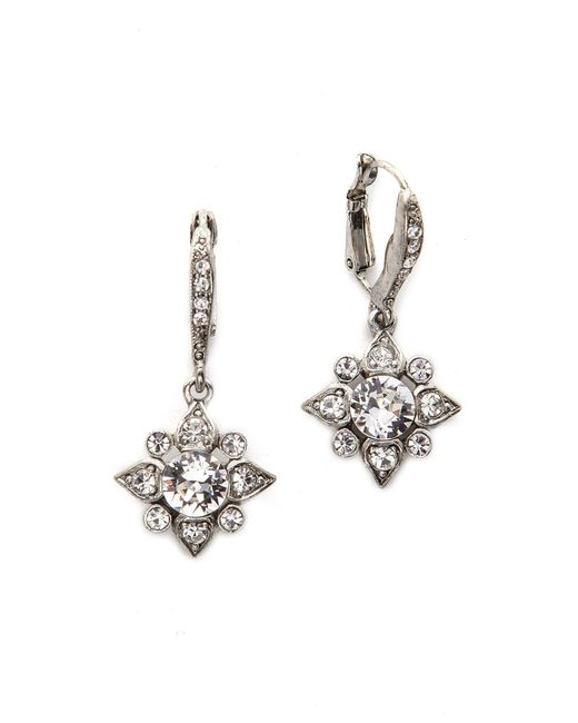Oscar de la Renta | Metallic Delicate Star Earrings | Lyst