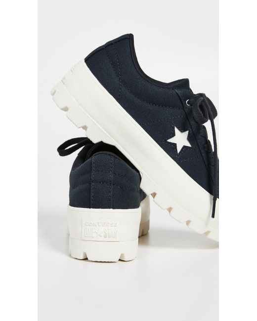 44dce83d2e5e ... Converse - Black One Star Lugged Ox Sneakers - Lyst ...