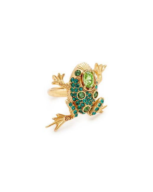 Oscar de la Renta | Green Crystal Frog Ring | Lyst