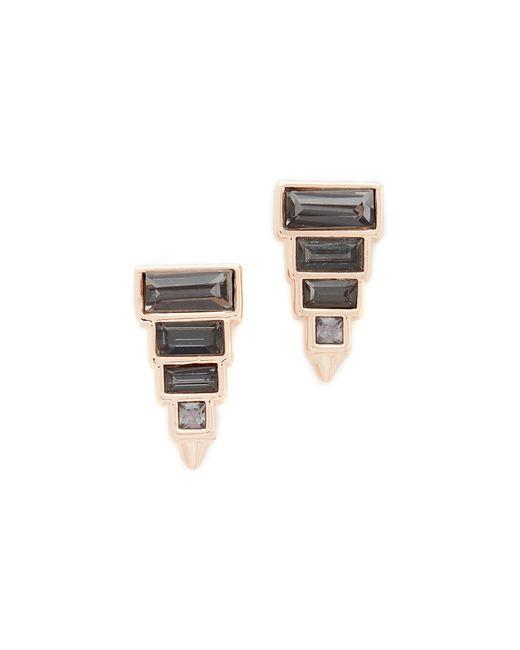 Rebecca Minkoff | Metallic Stacked Baguette Earrings | Lyst