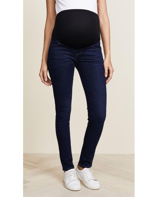Citizens of Humanity - Blue Maternity Avedon Skinny Jeans - Lyst