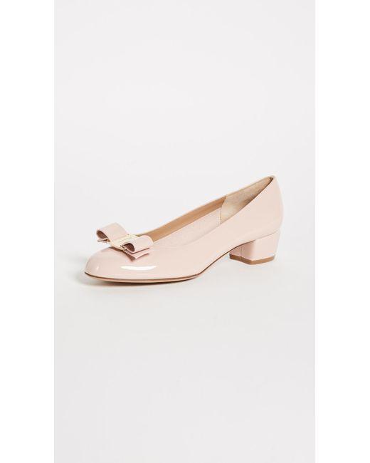 Ferragamo - Multicolor Vara Low Heel Pumps - Lyst