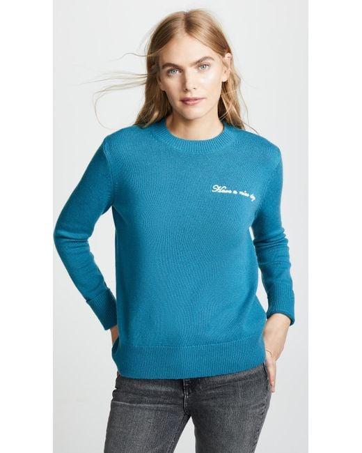 Rag & Bone - Blue Vicky Crew Sweater - Lyst