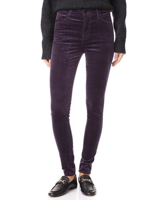 J Brand | Purple Maria High Rise Skinny Velveteen Jeans | Lyst