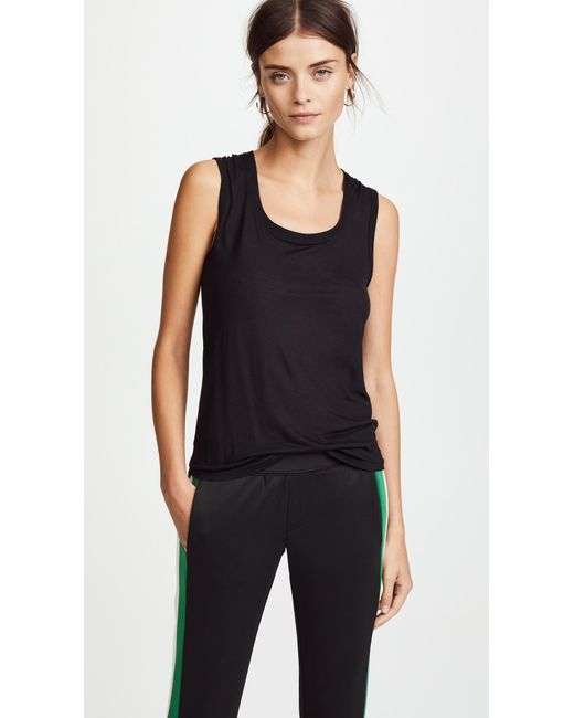 ATM - Black Sweatheart Tank Top - Lyst