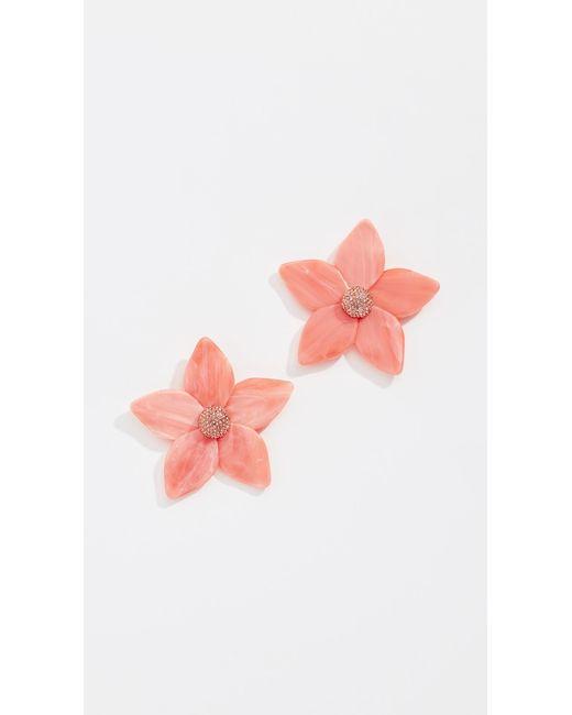 BaubleBar - Pink Adelissa Flower Resin Earrings - Lyst