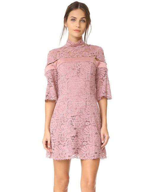 Keepsake   Purple Star Crossed Lace Mini Dress   Lyst