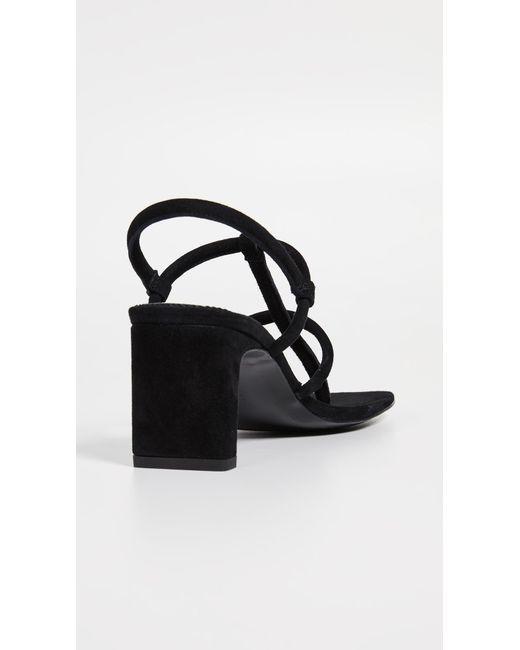 9a2fc7e89 ... Dorateymur - Black Thong Heeled Sandals - Lyst ...