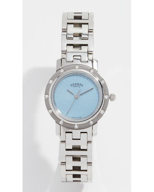 What Goes Around Comes Around - Metallic Hermes Dia Clipper Pm Watch, 24mm - Lyst