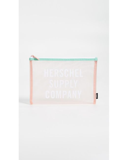 Herschel Supply Co. - White Network Mesh Large Pouch - Lyst