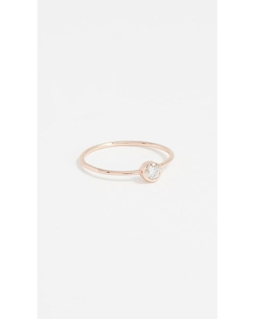 Shashi - Pink Solitaire Ring - Lyst