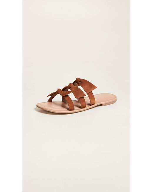 Jeffrey Campbell - Brown Atone Bow Sandals - Lyst