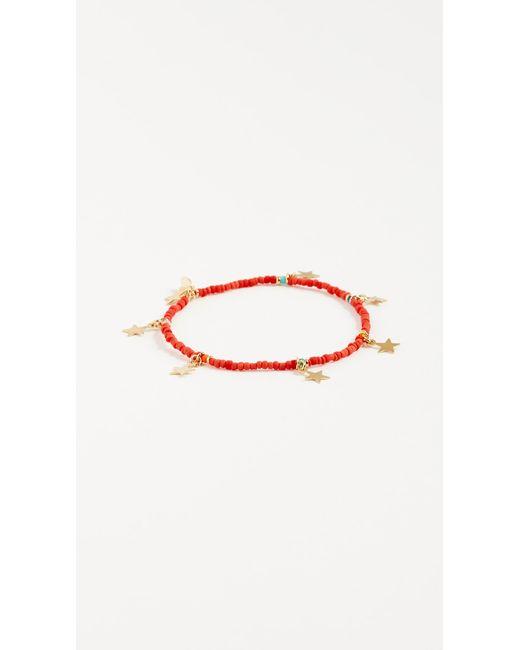 Shashi - Red Star Lilu Bracelet - Lyst