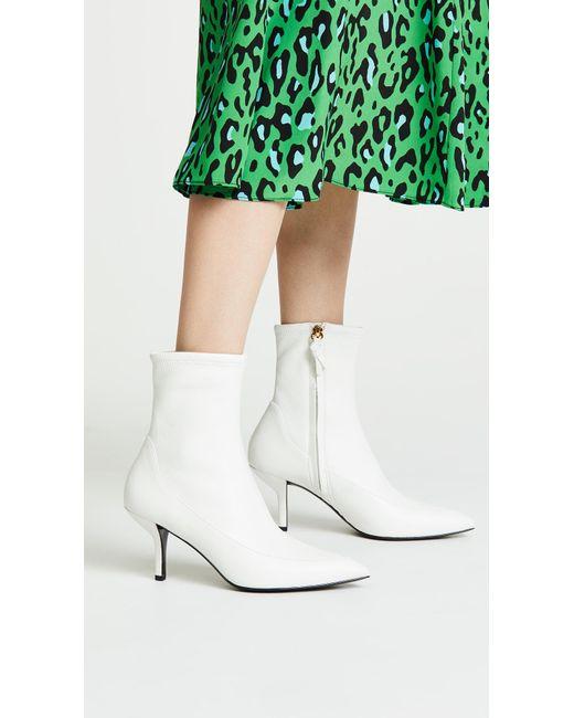 Diane von Furstenberg - White Morgan Leather Booties - Lyst