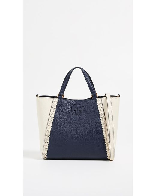 4afe266e039 Tory Burch - Blue Mcgraw Brogue Small Caryall Tote - Lyst ...