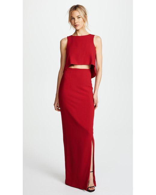 Black Halo - Red Kacie 2 Piece Maxi Dress - Lyst