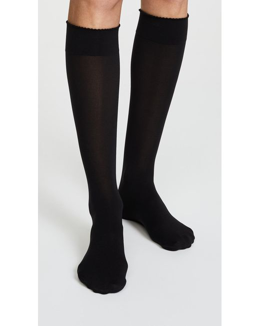 43d55c23118 ... Wolford - Black Velvet De Luxe 50 Knee High Socks - Lyst ...