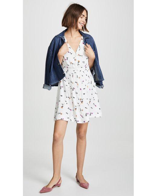 7791c44424 ... Madewell - White Retro Waisted Dress - Lyst ...