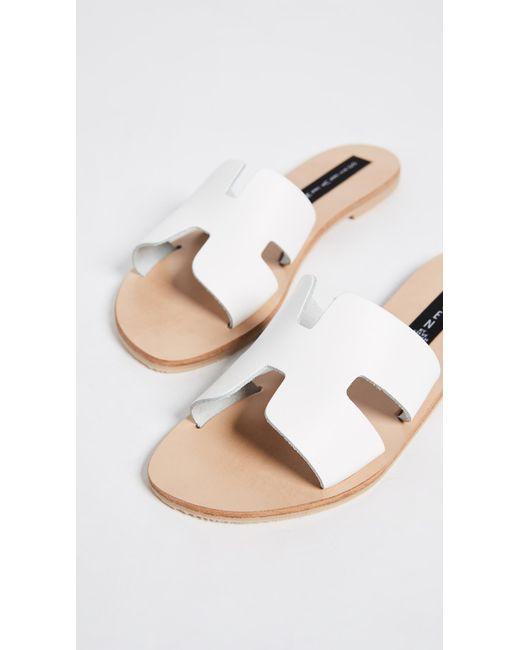 7d35e4b88e2 ... Steven by Steve Madden - Greece Sandal (white Leather 1) Women s Sandals  ...