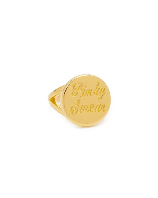 Elizabeth and James | Metallic Pinky Swear Pinky Ring | Lyst