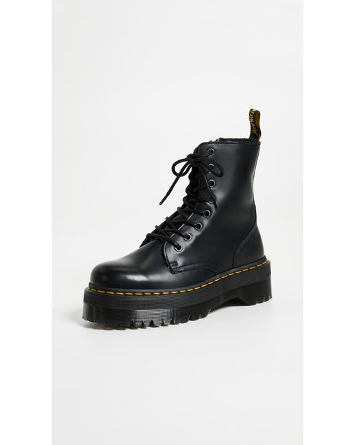Dr. Martens - Black Jadon 8 Eye Boots - Lyst