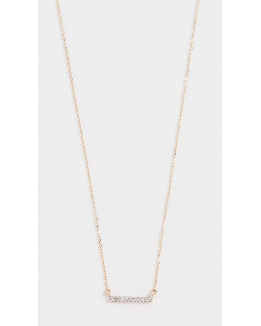 Adina Reyter - Yellow Pave Bar Necklace - Lyst
