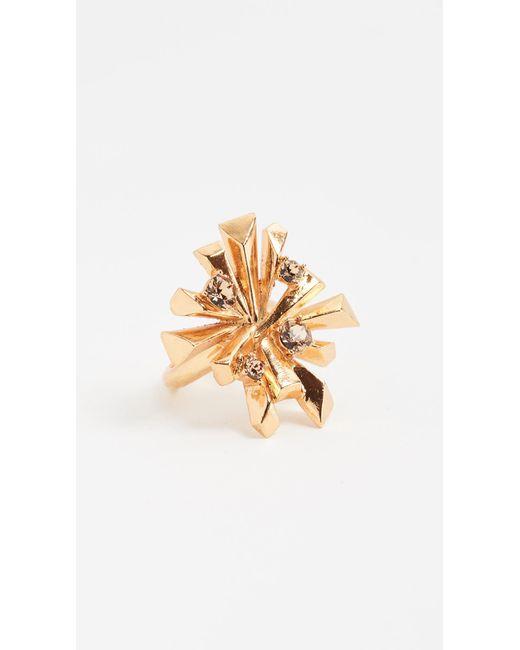 Oscar de la Renta | Metallic Spark Ring | Lyst