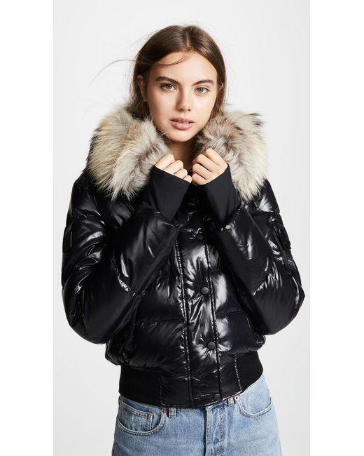 Sam. - Multicolor Skyler Short Down Jacket With Fur - Lyst