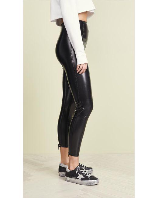 bc9b1e73d398f Lisa Marie Fernandez Karlie Pvc Leggings in Black - Save 13% - Lyst
