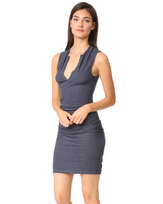 Lanston | Blue Ruched Dress | Lyst