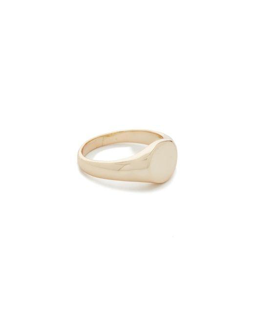 Shashi   Metallic Signet Ring   Lyst