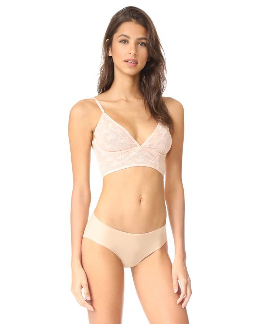 Free People | Natural Isabella Mesh Underwire Bra | Lyst