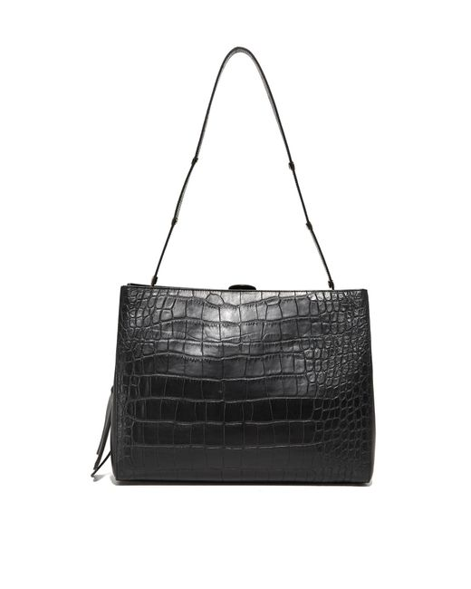 Little Liffner | Black Croc Shopper Bag | Lyst