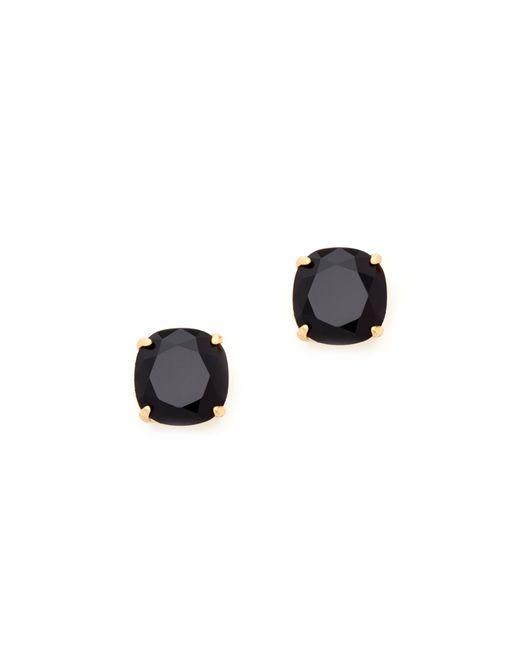 Kate Spade | Black Small Square Stud Earrings | Lyst