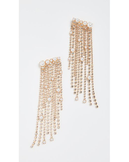 Elizabeth Cole | Natural Fringe Earrings | Lyst